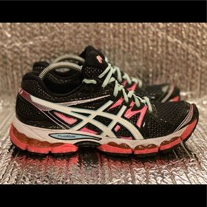 Asics Gel-Evate 2 Running Shoes Multicolor Black T4A7N Lace Up Mesh Women's 9